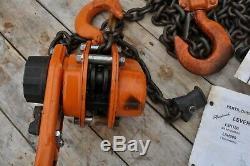 Ingersoll Rand ROUGHNECK L5H300-15 Lever Chain Hoist 1-1/2 Ton GOT WET