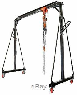 JEGS Performance Products 81245K Gantry Crane with Trolley & Chain Hoist 1-Ton C