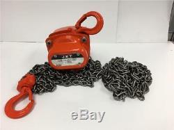 JET 1/2 Ton Chain Fall 10 FT Lift Triple Spur Gear Heavy Duty Hoist L-90 101505