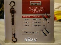 JET Compact Lever Chain Hoist 1/2-Ton Cap, 10-Ft. Lift Height, #JLH-50-10