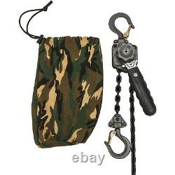 Jet Tools 1/4 Ton Mini Lever Chain Hoist with 10' chain + Camo Bag #287101C