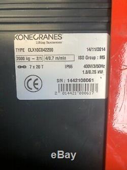 Kone Crane Lifting Equipment 2000kgs 2 Ton Electric Hoist Crane Gantry