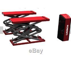 LAUNCH New Ultra-Thin Big Hydraulic 4Tons Scissor Car Hoist Lift Auto Shop