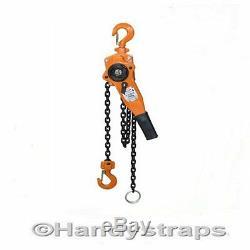 Lever Hoist Block 3000Kg 3 ton Ratchet winch pull lift 1.5 metre Handy Straps