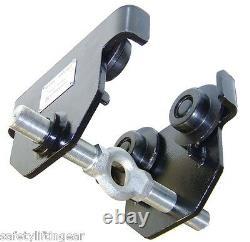 LiftinGear 3 Ton Adjustable Push Travel Girder Beam Trolley Extra Wide 160-305mm