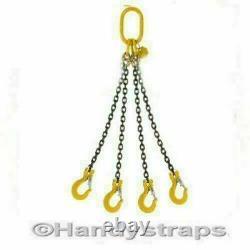 Lifting Chain Sling 2 Metre x 4 Leg 10mm 6.7 ton Handy Straps