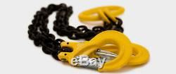 Lifting Chain Sling 2m x 4 Leg 7mm 3.15 ton with Shortners Handy Straps