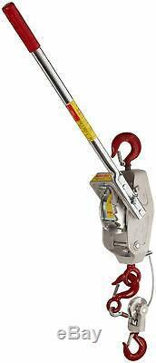 Lug-All 3000-30 Medium Frame Cable Ratchet Winch Pulley Hoist, 1-1/2 Ton Capacit