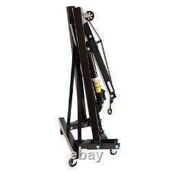 MOBILE HYDRAULIC Workshop Cranes 1 Ton 1000kg ENGINE CRANE HOIST LIFT Jack Stand