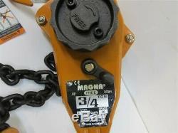 Magna LH07510, 3/4 Ton Lever Chain Hoist, 10' Lift, Grade 80