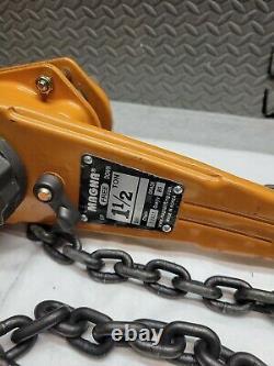 Magna LH150 Manual Lever Chain Hoists 1 1/2 ton 7.1X20 chain 80 GRADE