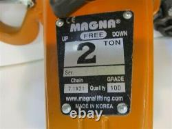Magna LH20020, 2 Ton Lever Chain Hoist, 20' Lift