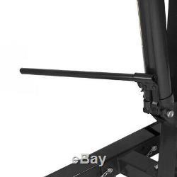 Mobile 1 Ton Engine Crane Hoist Folding Stand Hydraulic Mechanics Lifting Black