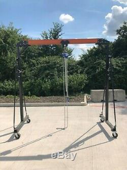 Mobile Overhead gantry crane hoist pulley Heavy Duty SWL 1 Ton
