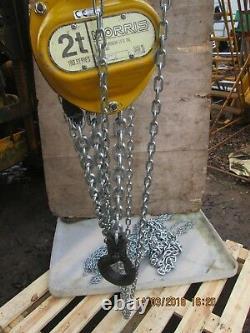 Morris 2 Ton British Made Chain Hoist (new) Unused