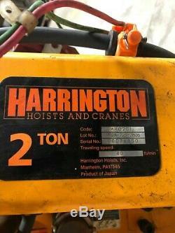 NEW 2016 HARRINGTON 2 TON HOIST MR020L NER020LD Chain Electric