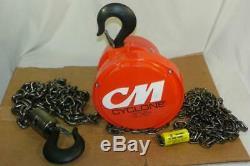 NEW CM 4626 Cyclone 2 Ton 10ft Lift Chain Hoist 4000lb 1-5/16 Hook Opening