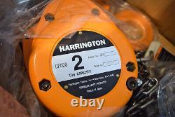 NEW Harrington Manual Hand Chain Hoist CF SERIES CF020-10 2 Ton, 10' Lift