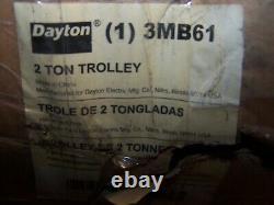 New Dayton 3mb61 Trolley For 2 Ton Chain Hoist