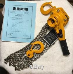 New Harrington 1 Ton Lever Hoist 15 Foot Lift L5LB010-15 Come Along