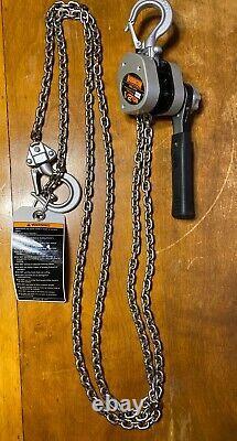 New Harrington LX005-10 Lever Chain Hoist 10ft Of Lift 1/2 Ton
