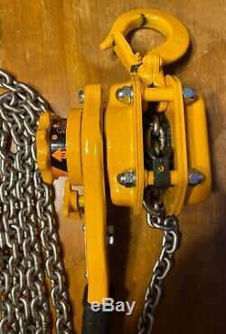 New Harrington Lever Hoist L5LB010-15 1 Ton With 15ft Lift