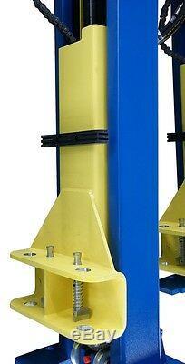 One Side Release 2 Post Lift Car Vehicle Ramp Lift Hoist 4 Ton Tonne Two Post