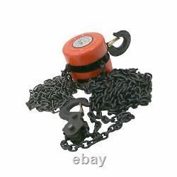 Oypla 2 Ton Chain Lifting Block and Tackle Hoist Heavy Duty Load
