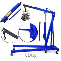 Portable 1 Ton Engine Crane Hoist Trolley Folding Carport Tool Home Shop