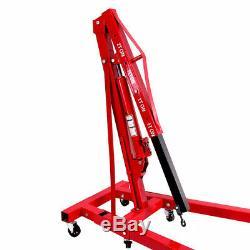 Professional 2 Ton Folding Engine Crane Hoist Lift Workshop Hydraulic Used Tools