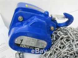 Ross HSZ-C, 1 Ton Hand Chain Hoist, 30' Lift
