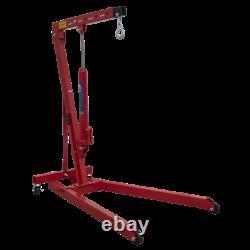 Sealey 1/2 Ton Tonne Engine Crane Stand Hoist lift Jack Hydraulic Folding Red B