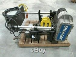 Shaw Box 5-ton Wire Rope Hoist Used Manufacturing 3-phase 460 Volt Rigging