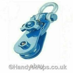 Snatch Block 8 ton Heavy Duty with 6 wheel and Swivel Bow- Pulley Lifting
