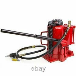 Stark 40000Lbs Low Profile Air Hydraulic Manual Bottle Jack Hoist 20 Tons Hea