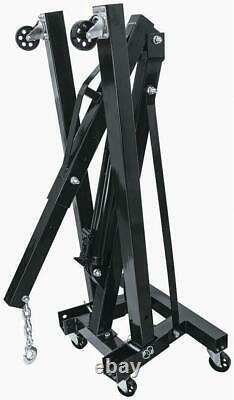 Summit Racing 905223 Engine Hoist Shop Crane Folding 1-Ton Steel Black Painted