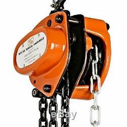 SuperHandy Manual Chain Block Hoist Come Along 1/2 TON 1100 LBS Cap 10FT Lift