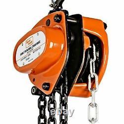 SuperHandy Manual Chain Block Hoist Come Along 1/2 TON 1100 LBS Cap 10FT Lift 2
