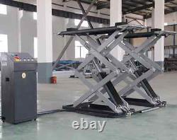 Super-Thin Scissor Lift Auto Shop Dealer 6,600 lbs Car Hoist Lift Shop 3 Ton