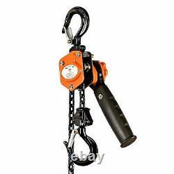 Superhandy Manual Chain Hoist Come Along 1/4 Ton 550 Lbs Capacity 5Ft Lift 2 Hea