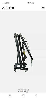 SwitZer Grey 2 Ton Tonne Hydraulic Folding Engine Crane Stand Hoist lift Jack