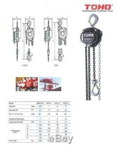TOHO HSZ-622A Chain Block Hoist (2 Ton, 20 Ft. Chain)