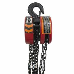 Torin Big Red Chain Block / Manual Hoist with 2 Hooks, 5 Ton (10,000 lb) Capacit