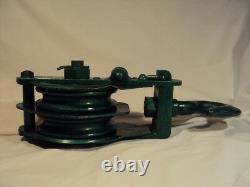Vintage New Old Stock Heavy Duty, 2 Ton, Size 6 Jet Snatch Block Pulley Hoist