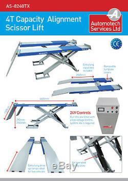 Wheel Alignment Scissor Car Lift / Vehicle Ramp / Hoist, 4 Ton, 4000kg
