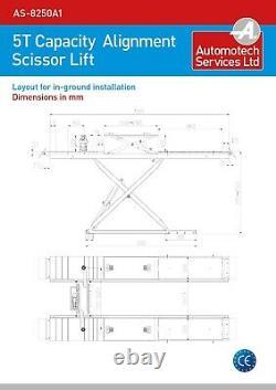 Wheel Alignment Scissor Car Lift / Vehicle Ramp / Hoist, 5 Ton, 5000kg