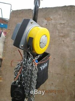 YALE- 5 TON HAND CHAIN HOIST MADE IN GERMANY BY COLUMUS Mc KINNON